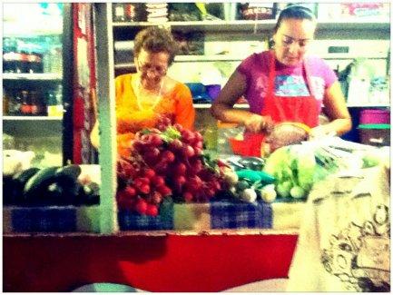 Our friendly Taco vendor at Topolobampo Sin , Mexico