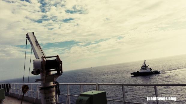 Tugboat and the white skies