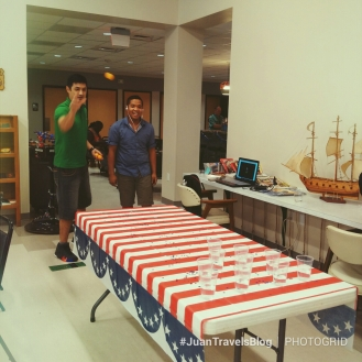 American beer pong game at the Seaman's Center