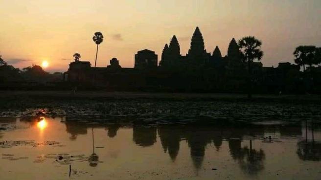 The Angkor Wat Temple Sunrise