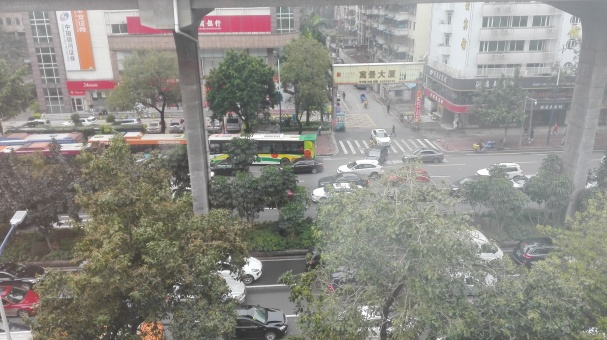View of the busy street of Guangzhou